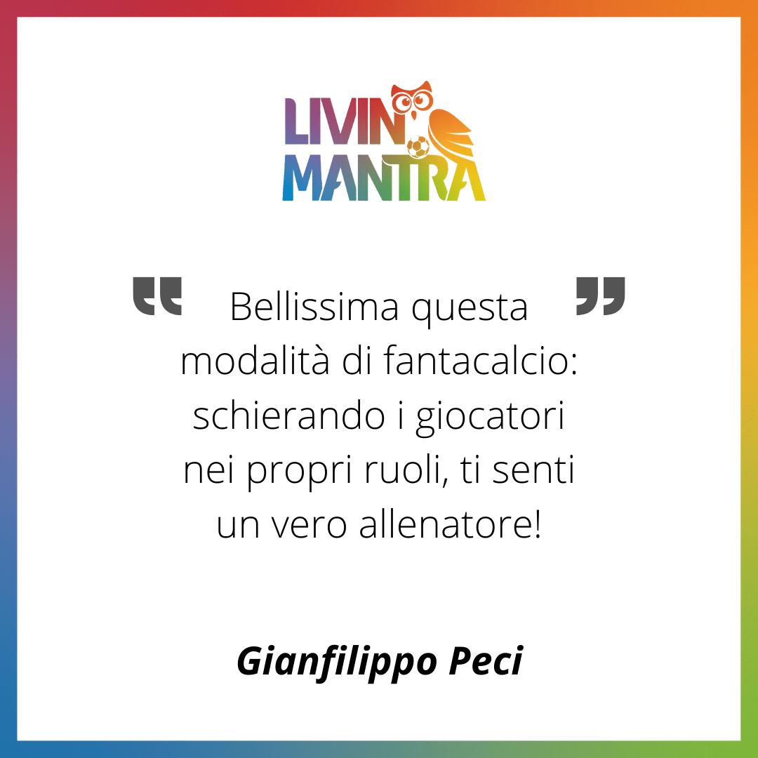 Gianfilippo Peci - Citazione 2020