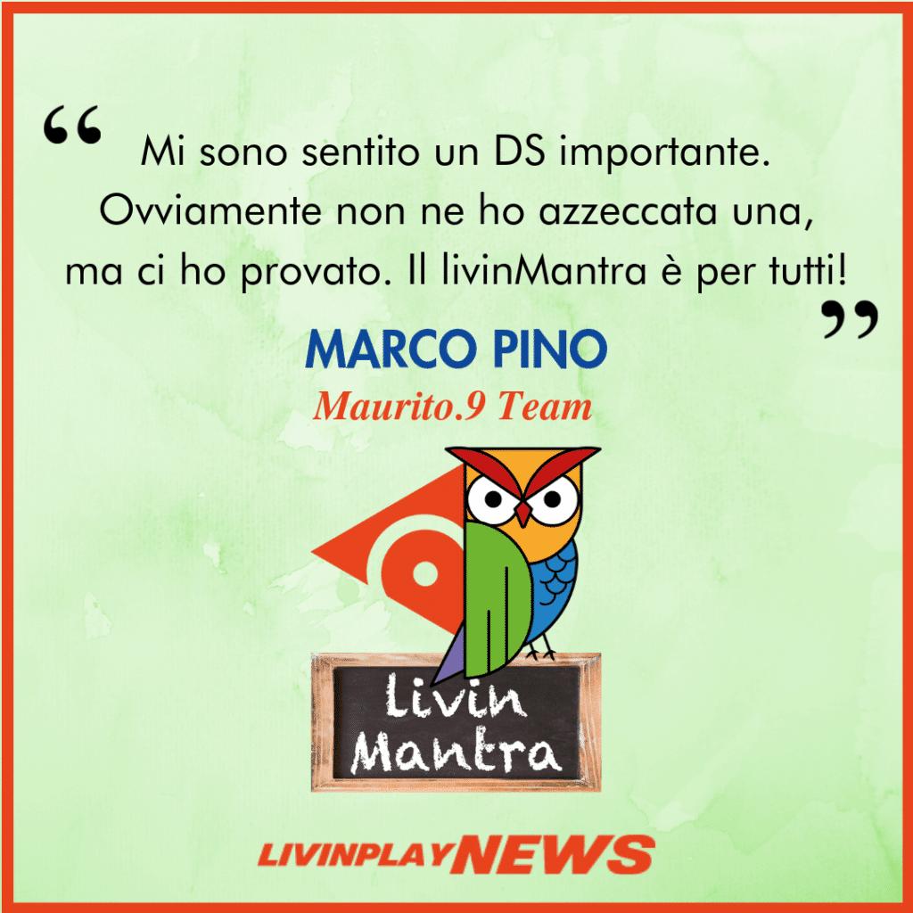Marco Pino - Citazione 2019