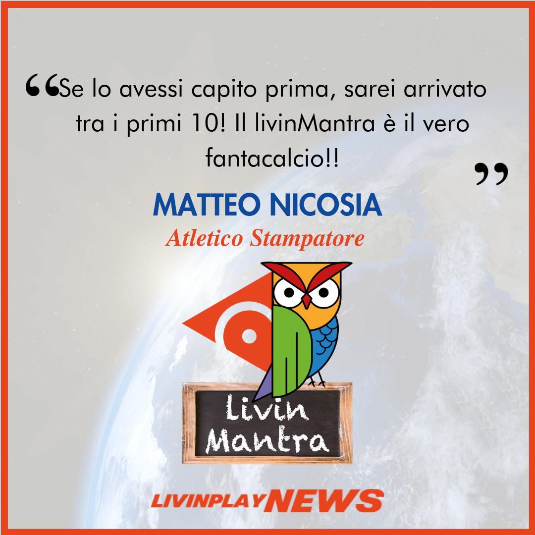 Matteo Nicosia - Citazione 2019
