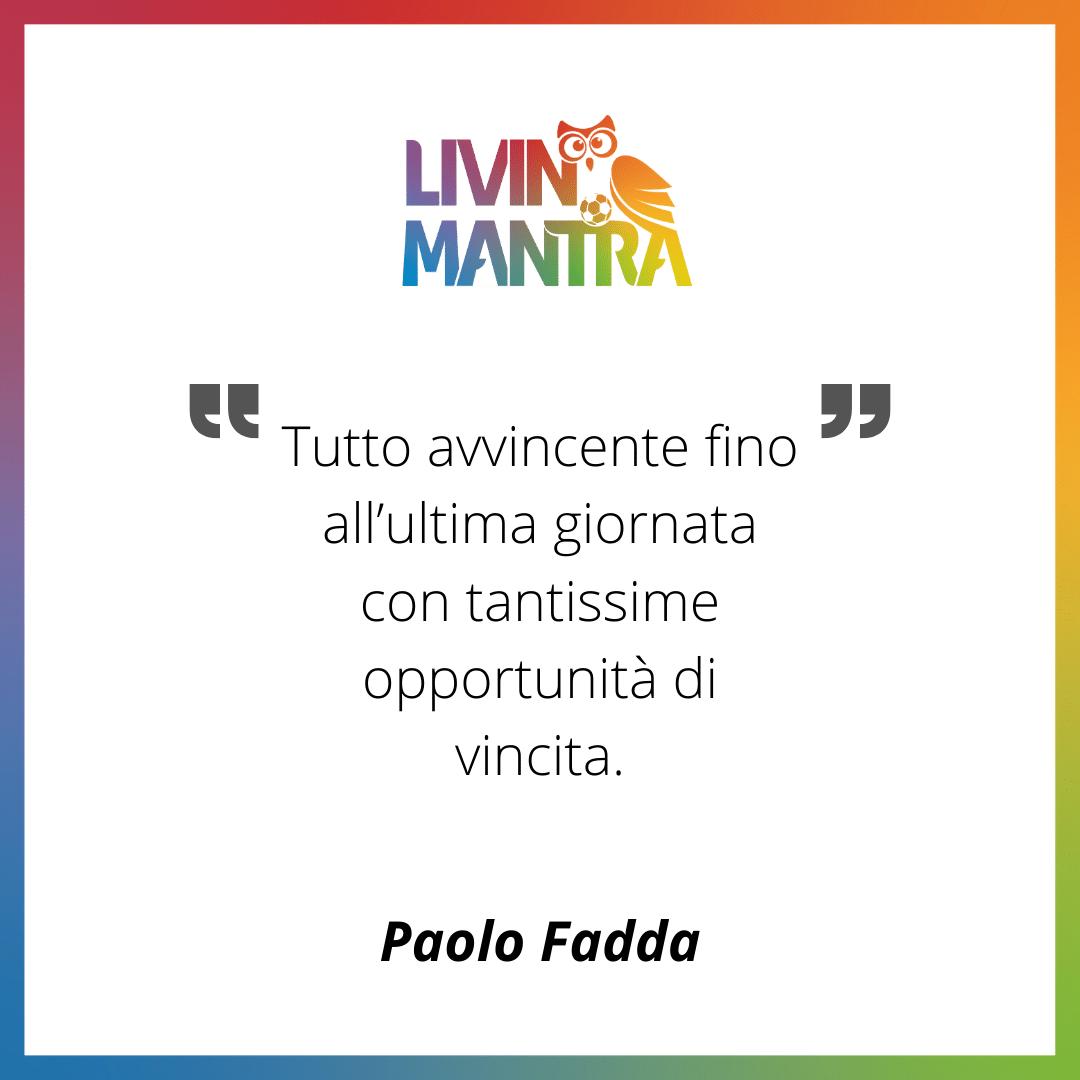 Paolo Fadda - Citazione 2020